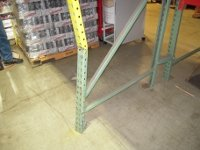 Before: Damaged Pallet Rack